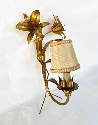 Applique doré fleurs