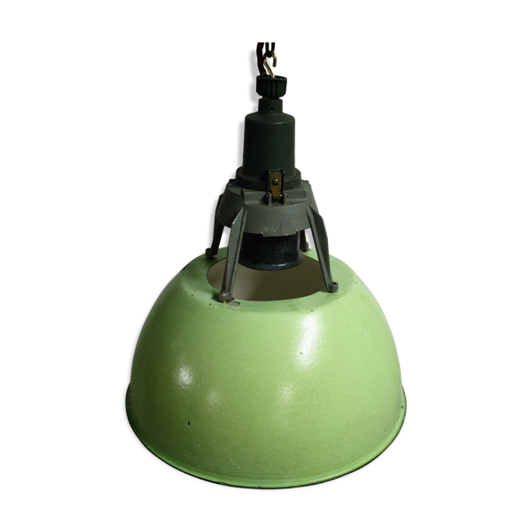 Lampe vintage industrielle années 1960