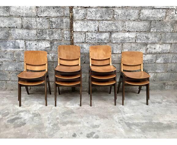 Série de 10 chaises Thonet