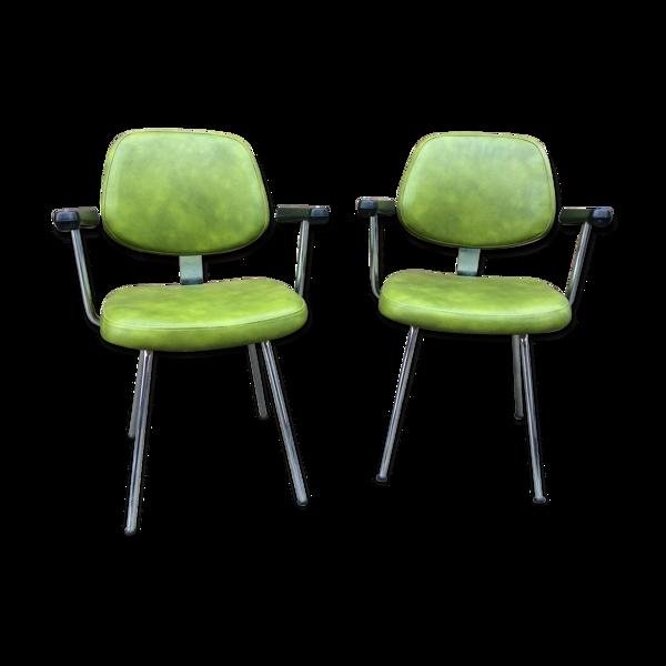 Paire de fauteuils vintage mid-century 1960