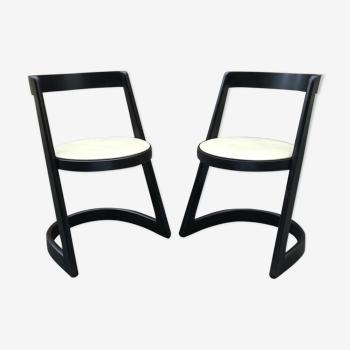 Paire de chaises Halfa par Baumann