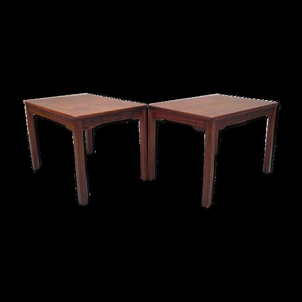 Paire de tables d'appoint en bois de rose d'Alberts Tibro années 1970