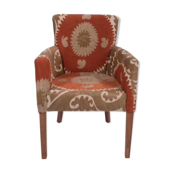 Suzani chair traditional bergere