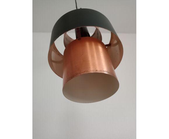 Suspension scandinave de Jo Hammerborg cuivre et métal