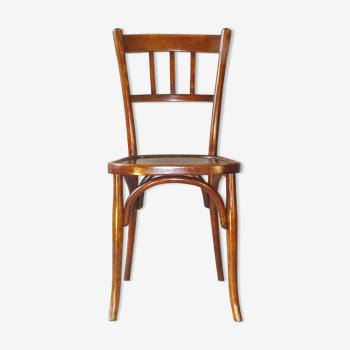 Chaise de bistrot Baumann 1925 assise bois