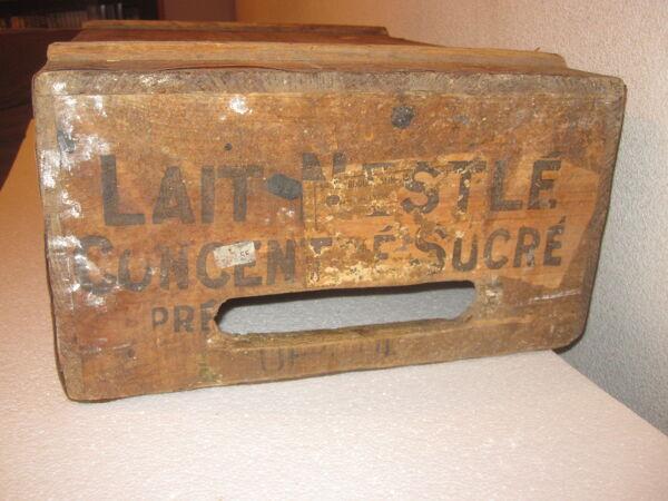 Ancienne caisse en bois Nestlé