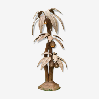 Coconut floor LAMP XXL in rattan