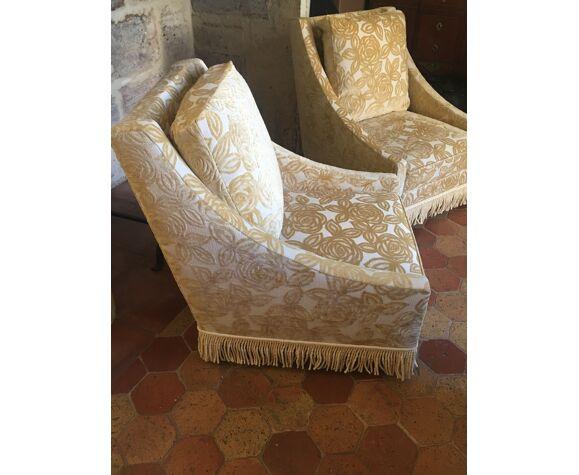 Paire de fauteuils tapissier