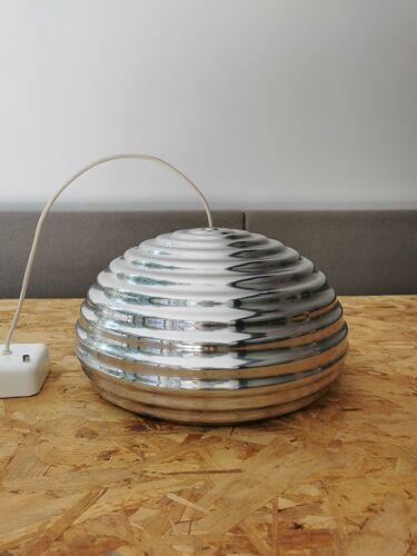 Castiglioni polished aluminium suspension for Flos