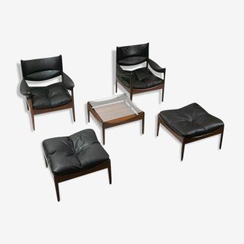 """Lounge set """"Modus"""" de Kristian Vedel style scandinave"""