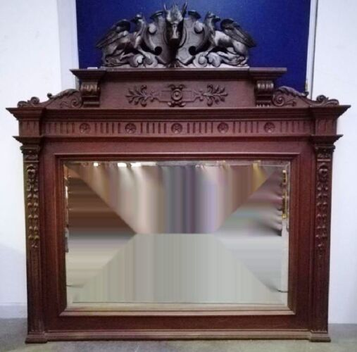 Miroir avec cadre en chêne 132x132cm