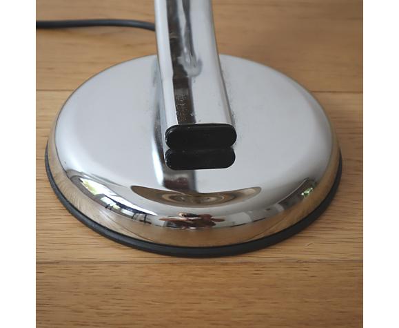 Lampe de bureau en metal chromé - années 80