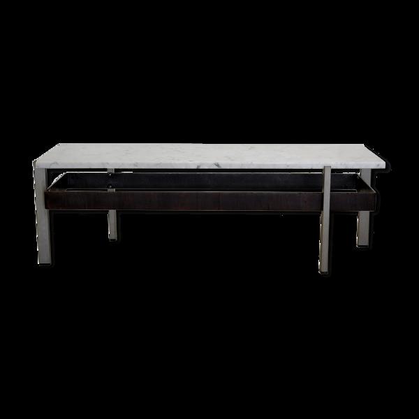Table basse en marbre Rispal-Élan France années 60