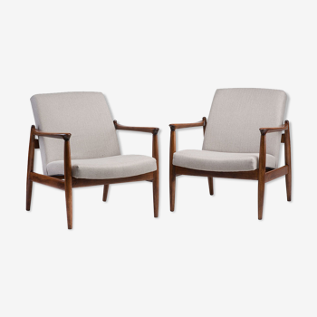 Pair of GFM 64 armchairs from 1960s.