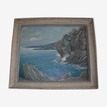 Paysage maritime de Claude Pallot (1901-1987)