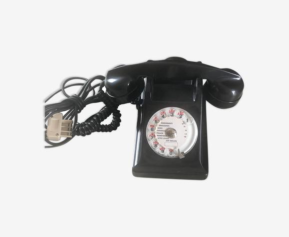 Téléphone à cadran noir