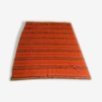 Tapis folklorique polonais couvre-lits des années 1960, laine naturelle.