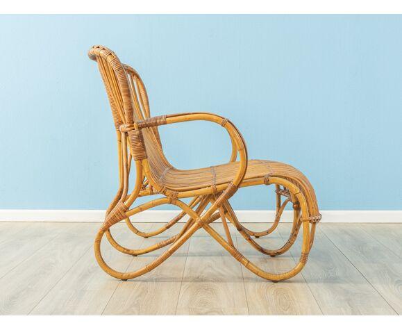 Lot fauteuil en bambou, années 1950