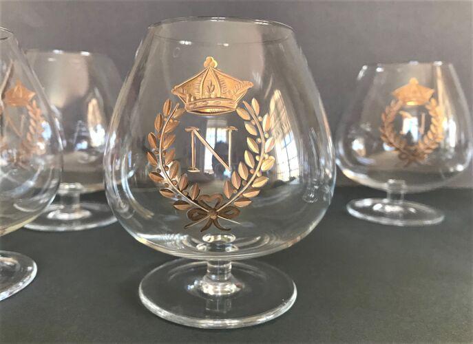 Verres cristal à Cognac Napoléon