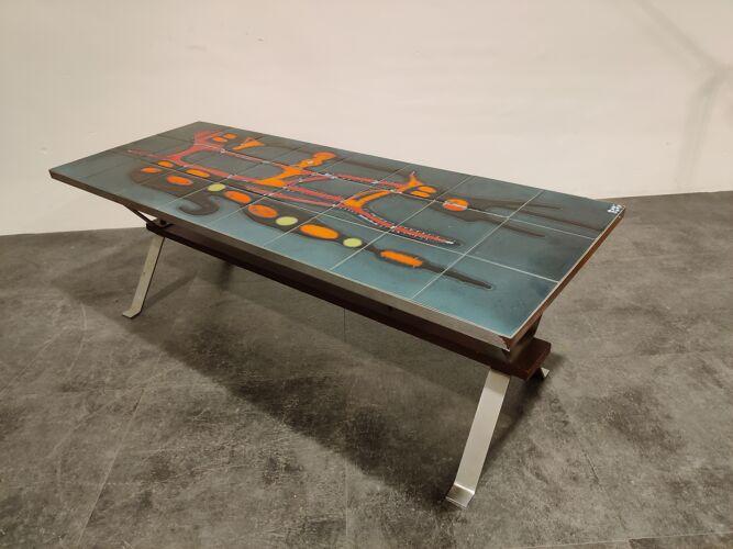 Table basse en céramique du milieu du siècle par adri, années 1960