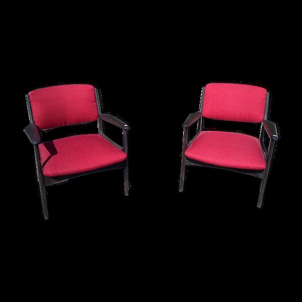 Selency Paire de fauteuils scandinave années 50