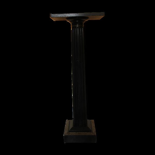 Colonne en bois cannelée noire
