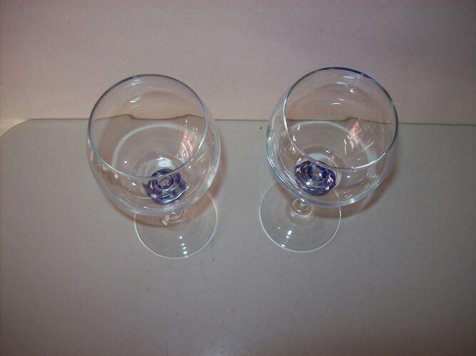 Duo vintage de verres a eau Luminarc