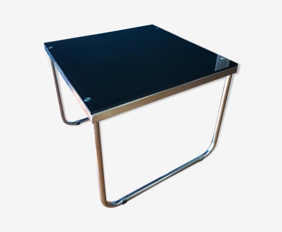 Table basse tubulaire style Bauhaus