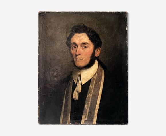 Portrait de notable 1839 signé Coqueret