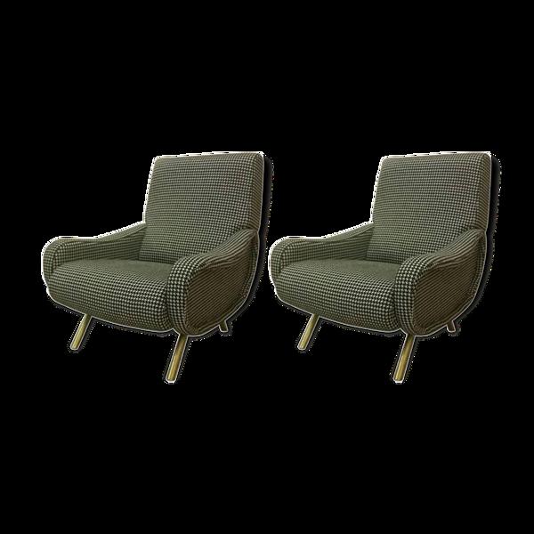 Selency Paire de fauteuils italiens vers 1960