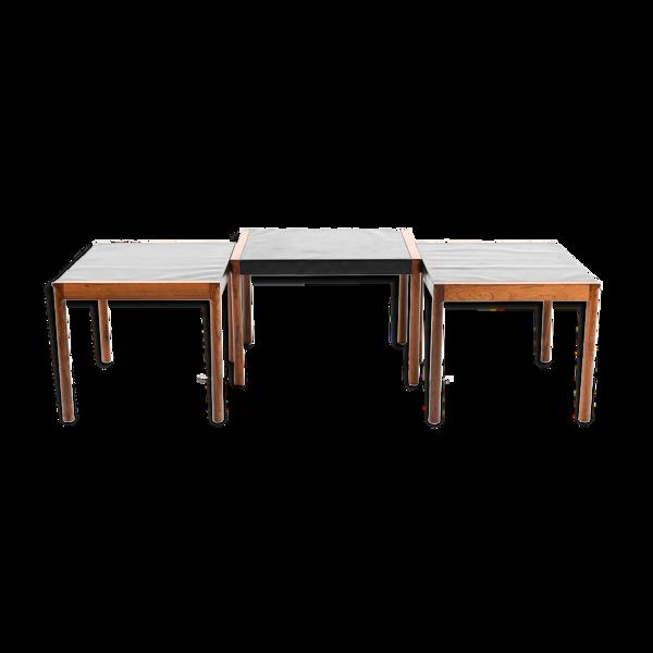 Selency Table gigognes en palissandre Danemark  années 1960