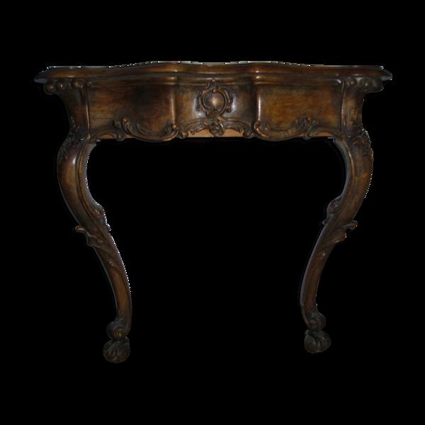 Console en noyer style Louis XV XIXème siècle