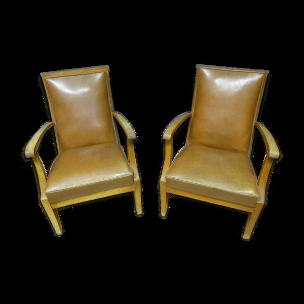 Paire de fauteuils XXème