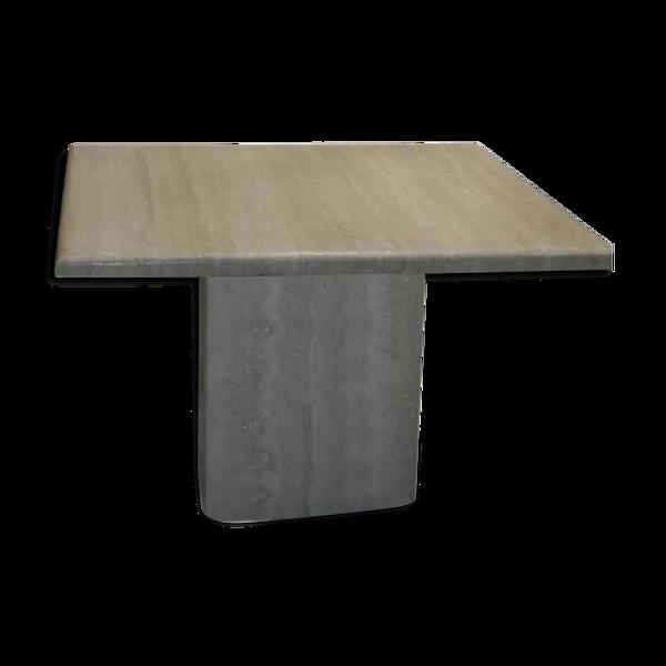 Selency Table basse en marbre travertin