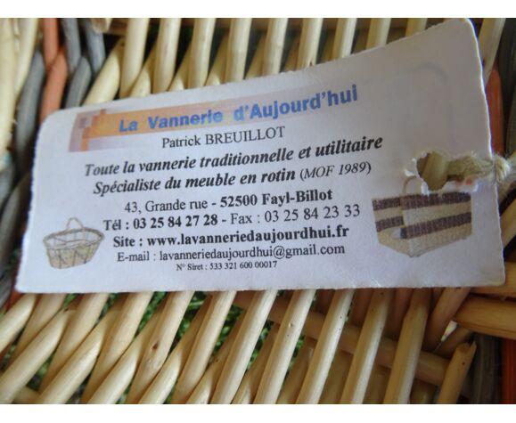 Panier rond artisanal en osier
