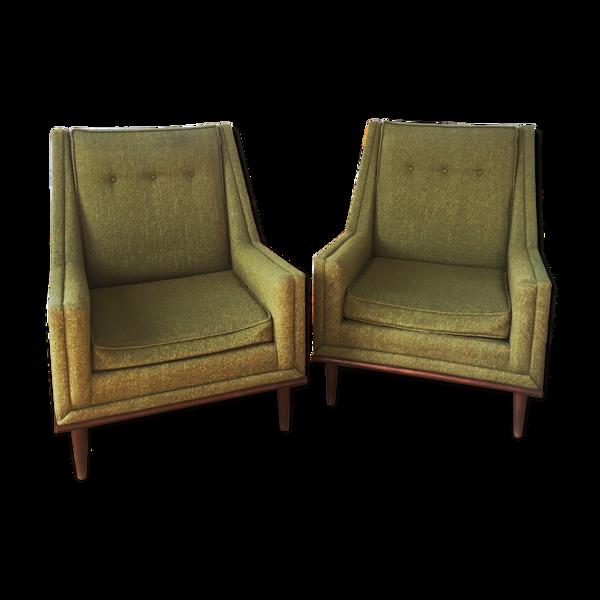 Selency Paire de fauteuils 60's