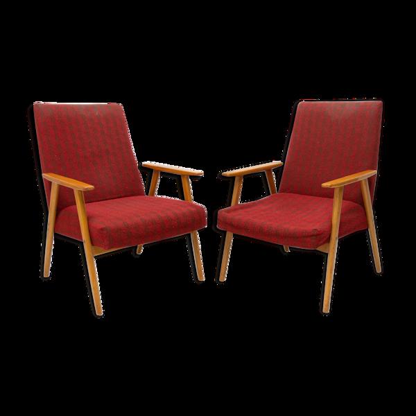 Paire de fauteuils au milieu du siècle Tchécoslovaquie 1960´s
