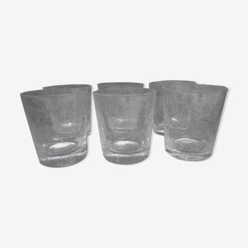 """Série de six verres artisanal """"Verrerie de Biot"""""""