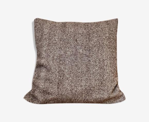Coussin en laine à chevrons 40 cm