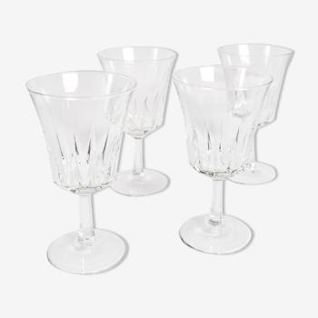 4 verres à pied