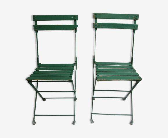 Paire de chaises de jardin pliantes