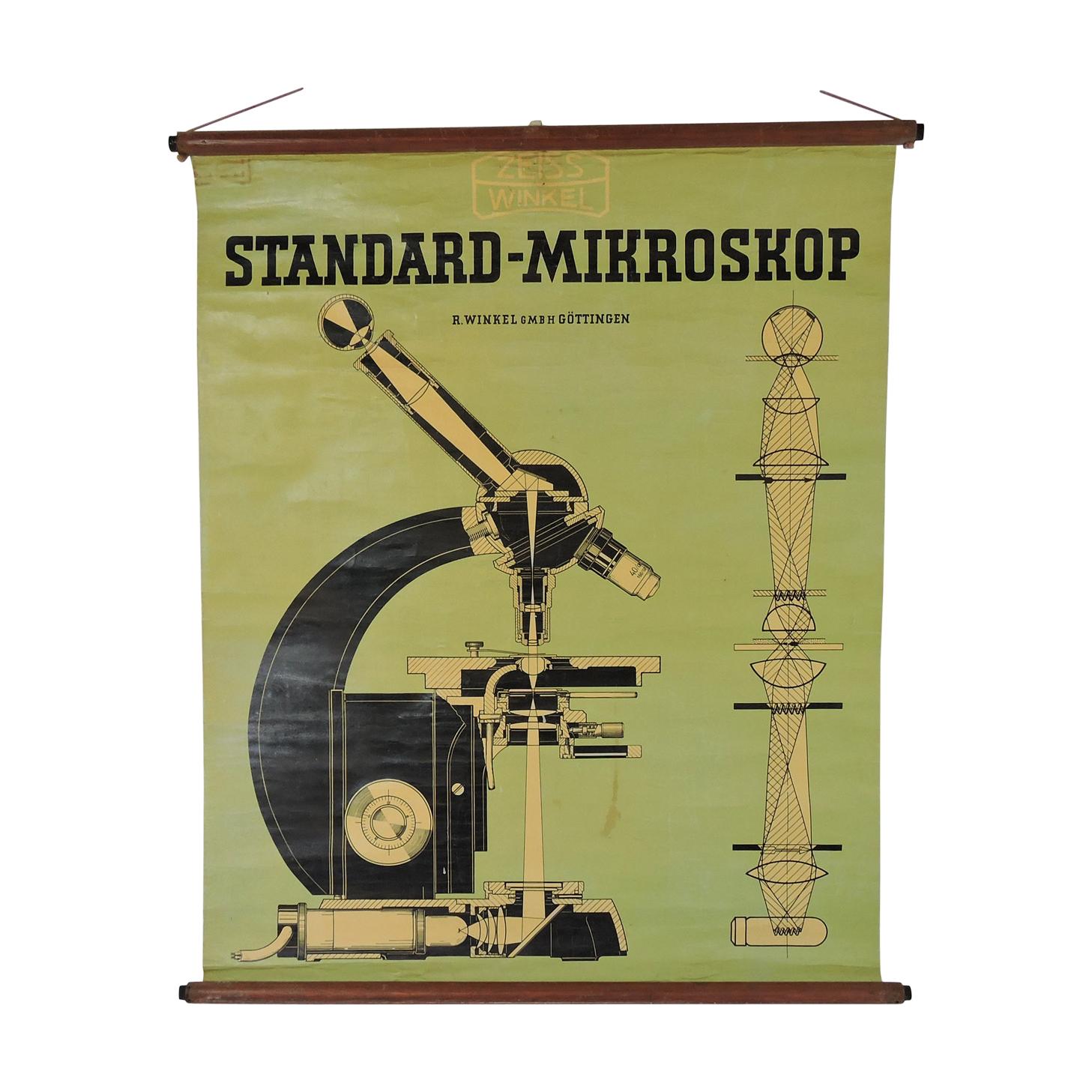 Affiche par Zeiss Winkel Standard-Mikroskope années 1940