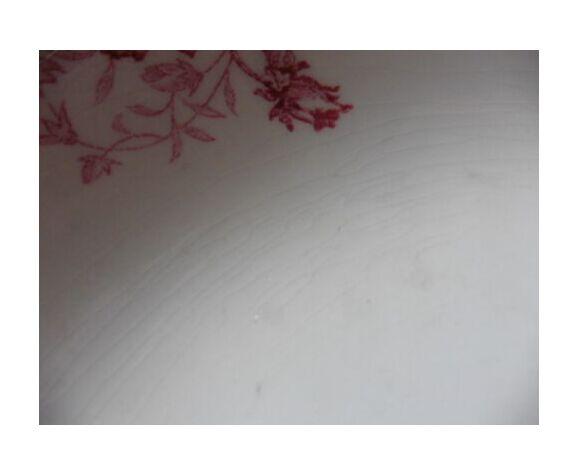 Plat creux terre de fer LG décor pavots