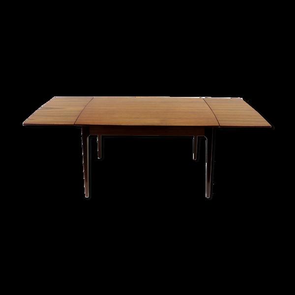 Table à manger vintage extensible fabriquée dans les années 60