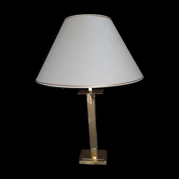Lampe en laiton et aluminium des années 70-80