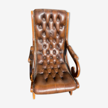 Chaise chesterfield cuir