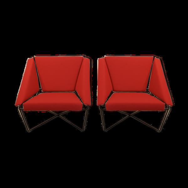 Selency Paire de fauteuils Van Speyk par Rob Eckhardt