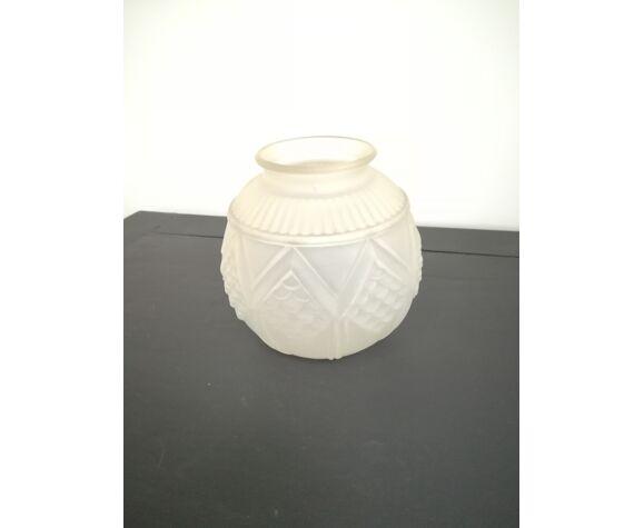 Vase en pâte de verre art déco