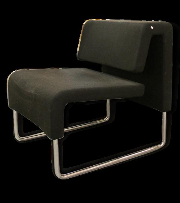 Paire de fauteuils noirs