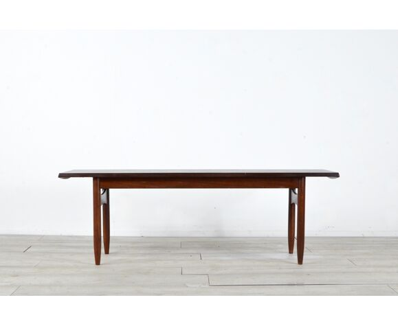 Table basse danoise en teck du milieu du siècle